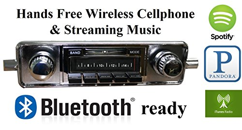 1963 Vintage Port (Bluetooth Enabled Stereo for 1958-1967 Volkswagen Beetle, VW Bug USA-630 II High Power 300 watt AM FM Car Stereo / Radio USB, Aux, iPod inputs)