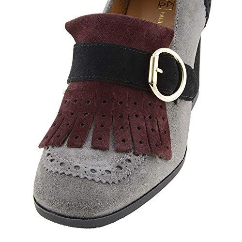 En Paula Fendu Boucle Gris Chaussures Alonso Tricolore Cuir Avec w77WRqPOp