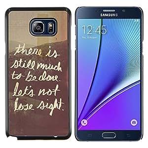 Stuss Case / Funda Carcasa protectora - Citar Texto Café Ventana Escritura - Samsung Galaxy Note 5