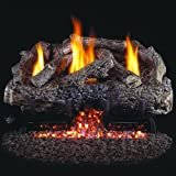 Cheap Peterson Real Fyre 18-inch Charred Frontier Oak Log Set With Vent-free Propane Ansi Certified G10 Burner – Variable Flame Remote