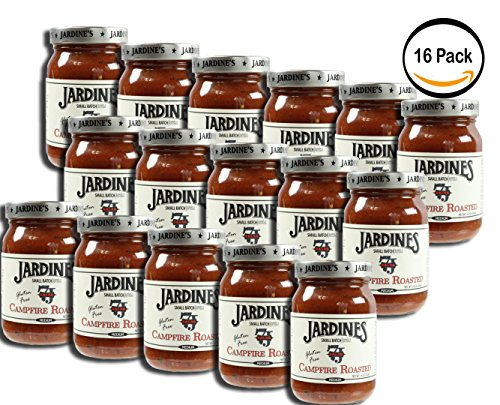 PACK OF 16 - Jardine's Gluten Free Campfire Roasted Salsa, 16oz, Medium Heat by Jardine's