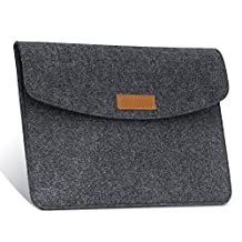 MoKo 7-8 Inch Sleeve Bag, Portable Protective Felt Case Cover, for Apple iPad mini 1 / 2 / 3 / 4, Samsung Galaxy Tab S2 8.0, E 8.0, Tab A 8.0, Tab 4 7.0/8.0, Tab E Lite 7.0 (Dark Gray)