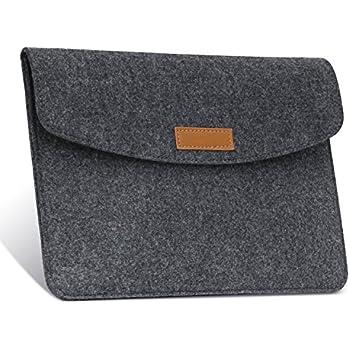 MoKo 9-10 Inch Sleeve Bag, Protective Felt Case Cover for iPad Pro 10.5, iPad 1 / 2 / 3 / 4, iPad Air / Air 2, iPad 9.7 2017, Lenovo Tab 4 10, Samsung Galaxy Tab A 10.1, ZenPad 3S 10 9.7 - Dark Gray