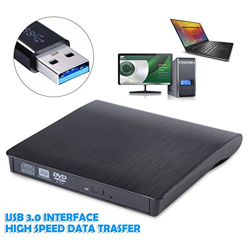 USB 3.0 External CD/DVD ROM Player Optical Drive DVD RW Burner Reader Writer Recorder for Laptops PC Windows 7/8