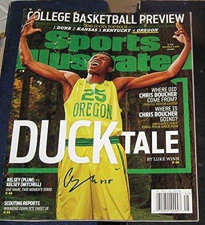 info for 9b429 f128d Chris Boucher Oregon Ducks SIGNED Sports Illustrated SI COA ...