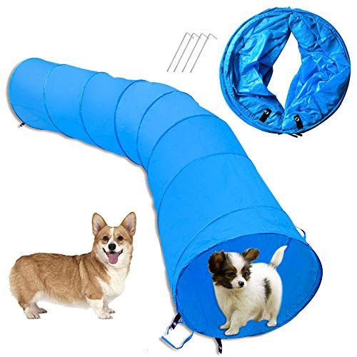 Cossy Home Collapsible Cat Tunnel Tube Kitty Tunnel Pet Toys Peek Hole for Cats, Puppy, Dogs, Kittens, Rabbits (3 Size) (79inch) (Peek Tube)