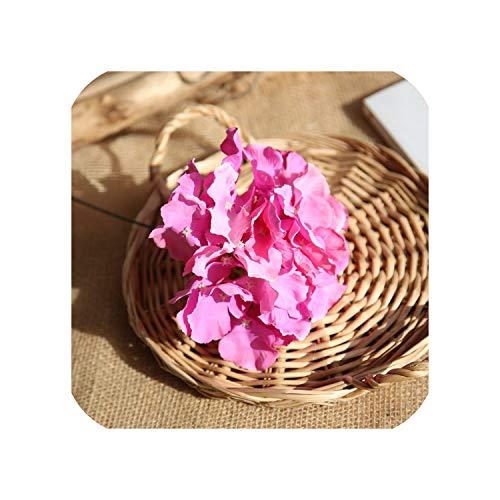 Colorful Decorative Flower for Wedding Party Artificial Hydrangea Silk DIY Flower,Deep Pink ()