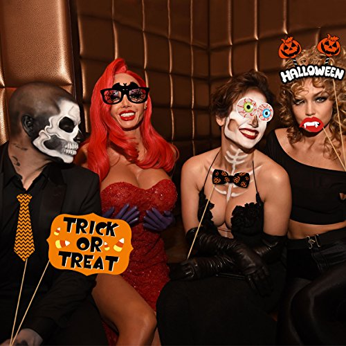 PRETYZOOM 47 Pieces Halloween Party Photo Booth Props Kit Fancy Party Decor Halloween SupplyPose Sign Kit for Party Decoration by PRETYZOOM (Image #7)