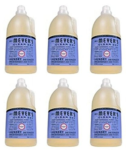 Mrs. Meyer's Clean Day 64 Load Laundry Detergent, Bluebell, 64 fl oz (6) by Mrs. Meyers