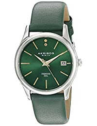 Akribos XXIV Women's AK879GN Analog Display Quartz Green Watch
