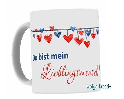 Wolga Kreaiv Tasse U0026quot;Du Bist Mein Lieblingsmenschu0026quot; Valentinstag  Spruch Geschenk Beste Freundin
