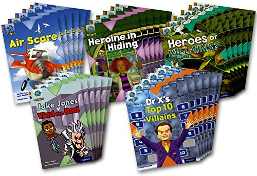Project X Origins: Brown Book Band, Oxford Level 11: Heroes and Villains: Class Pack of 30 pdf epub