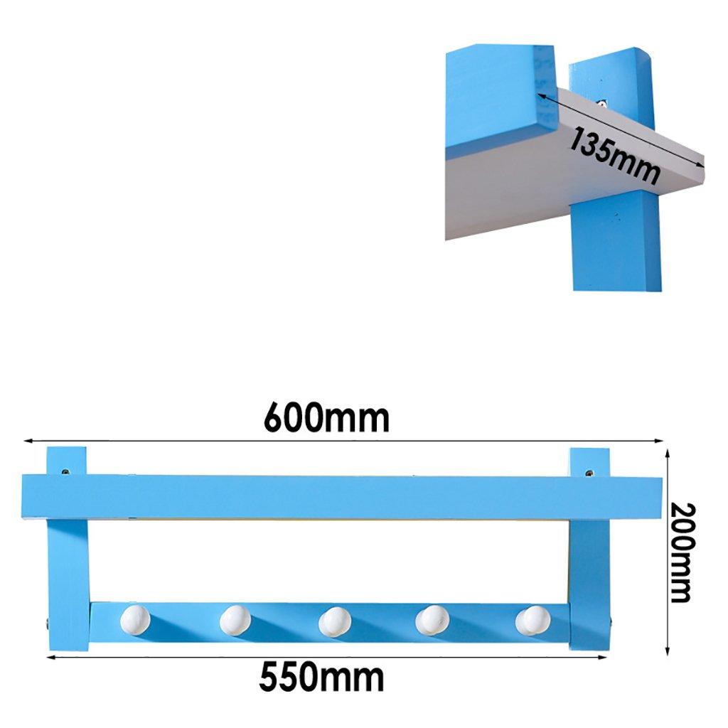 多機能ブルーウォールコートラック、壁掛けのしっかりした木の棚の棚、3種類のサイズオプション (サイズ さいず : 60*13.5*20cm) 60*13.5*20cm  B07KVRT8HG