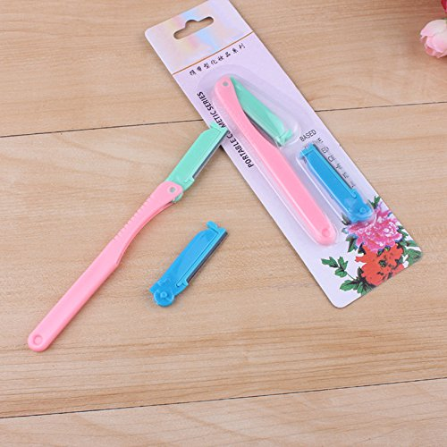 1PC Blade Eyebrow Trimmer Set Shaper Shaver Blade Knife Hair Shaver Remover Makeup Tool Shaping Eyebrow Blade Random Color angju