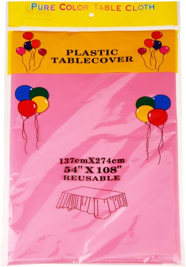 140 x 270cm Plastic Table Cloth for Birthday Party Wedding Party Hen Party FINGOOO Extra Large Plastic Tablecloth blue