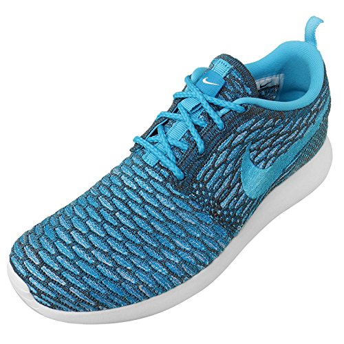NikeRoshe Flyknit - Zapatillas de Running Mujer dark grey clear water blue legion white 003