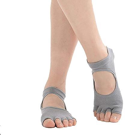 MIIAOPAI Calcetines De Yoga Mujer Cinco Dedos Sin Respaldo ...