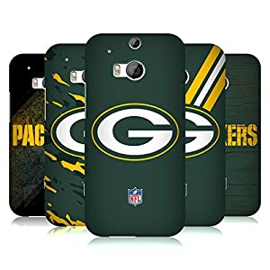 Official NFL Green Bay Packers Logo Hard Back Case for HTC One M8 / M8 Dual Sim