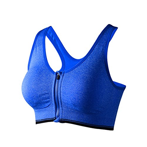 Chaleco De La Aptitud De Aeróbicos Sujetador Deportivo Yoga Correr De Las Mujeres Blue1