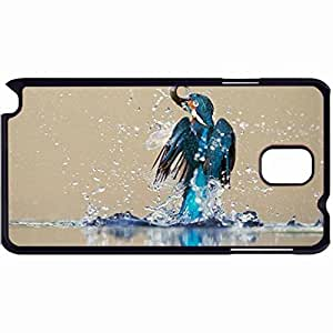 New Style Customized Back Cover Case For Samsung Galaxy Note 3 Hardshell Case, Back Cover Design Kingfisher Personalized Unique Case For Samsung Note 3 wangjiang maoyi