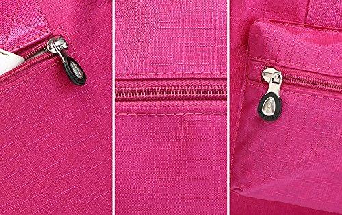 Paquete de la madre de múltiples funciones, maternal y bolsas del niño, bolso de las mujeres embarazadas, salen el bolso, bolso de la momia, bolso, bolso de hombro ( Color : Rosa Roja ) Purple
