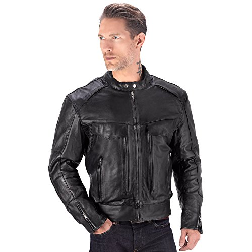 padded motorcycle jacket - 4