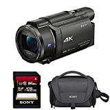 Sony FDRAX53/B 4K HD Video Recording Camcorder (Black) Bundle