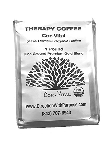 Cor-Vital Organic Enema Coffee - Green Beans Finely Ground with Detox Recipe - 1lb