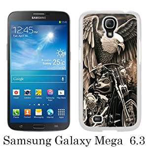 Popular Sale Samsung Galaxy Mega 6.3 Case,HARLEY DAVIDSON 3 White Customized Picture Design Samsung Galaxy Mega 6.3 i9200 i9205 Phone Case