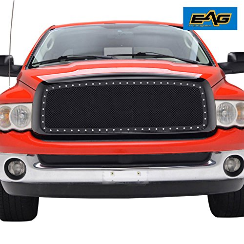 EAG 2002-2005 Dodge Ram 1500/2500/3500 Rivet Stainless Steel Wire Mesh  Grille