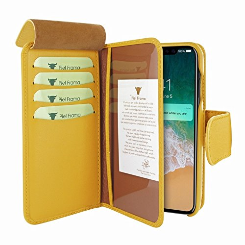 Piel Frama 793 Yellow WalletMagnum Leather Case for Apple iPhone X by Piel Frama (Image #2)
