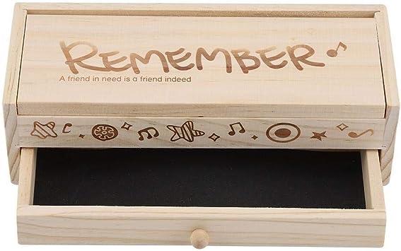 Estuche Multifuncional Caja de papelería de Doble Capa, Caja de lápices de Madera de Gran Capacidad Caja de Almacenamiento de papelería con Mini Pizarra for útiles Escolares Regalos for Estudiantes: Amazon.es: Electrónica