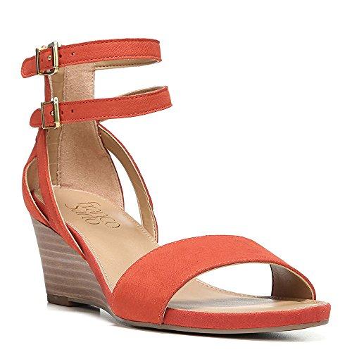 Franco Sarto Womens Danissa Wedge Sandal Orange Läder
