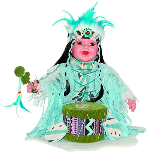 "Golden Keepsakes Collectible Heirloom Native American 24"" Porcelain Doll Citlali"
