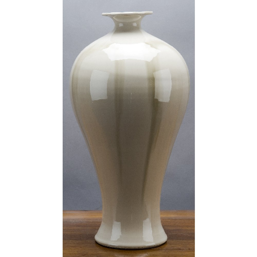 Home decor. Ivory Run Glazed Vase. Dimension: 9 x 9 x 14. Pattern: Color Classic.