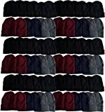 60 Pack Case Mens Womens Warm Winter Hats Wholesale Bulk, Unisex, by WSD (Assorted)