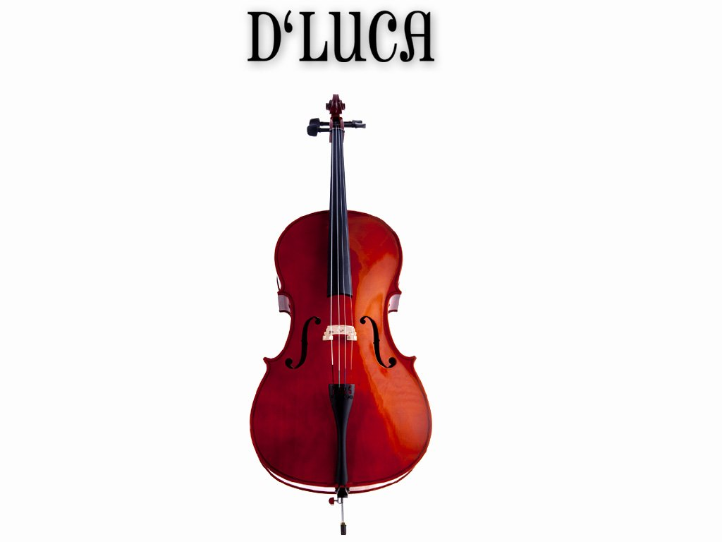 D'Luca MC100-3/4 Meister Student Cello 3/4 Package with Free Stand, Bag, Strings, Chromatic Tuner, Rosin and Bow by D'Luca