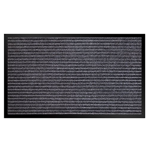 VDOMUS Door Mat Shoe Scrapper & Rubber Backing Doormat Indoor Outdoor Entry Way Rug, for High Traffic Areas (Mat Indoor)