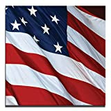 JP London 2in Thick Premium Huge Gallery Wrap Heavyweight Canvas Wall Art God Bless America USA Flag 50in CNVSQL2159