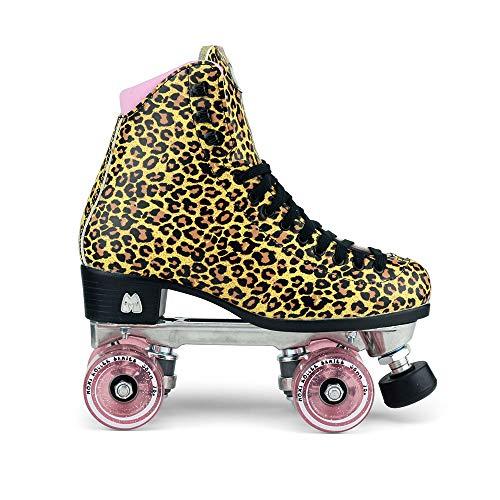 Moxi Skates - Ivy Jungle - Fashionable Womens Roller Skates | Leopard | Size 8 by Moxi (Image #1)