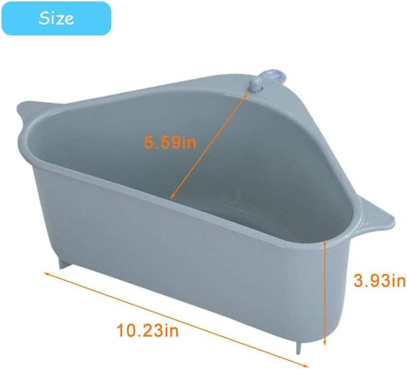 organizador de drenaje para cocina y ba/ño Merkts color azul Estante de drenaje para fregadero con ventosa