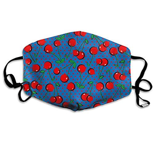 Sam-Uncle Anti Dust Face Mouth Cover Mask Cherry Drawing Anti Pollution Breath Healthy Mask ()