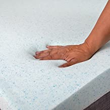 Gel Memory Foam Topper 2.5 inch Cooling Gel Infused Memory Foam by ExceptionalSheets - Made in the USA, Cal King, White