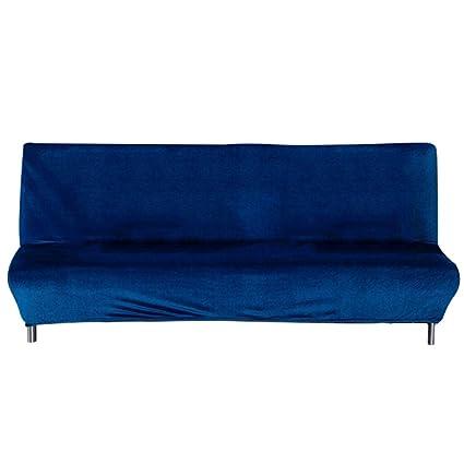 Funda de sofá elástica de Terciopelo Plegable, sin Brazos ...