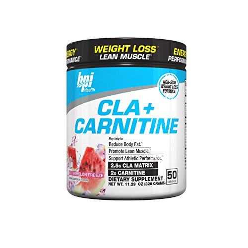 BPI Sports -Bpi Health CLA + Carnitine Non, Watermelon Freeze, 50 Servings, 11.29 Ounce,