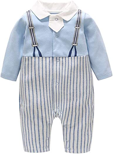 Baby Boy Camisa Ropa Traje Pantalones Camisa Correa Arco Manga Larga Bebé Bautizo Ropa Esmoquin: Amazon.es: Ropa y accesorios