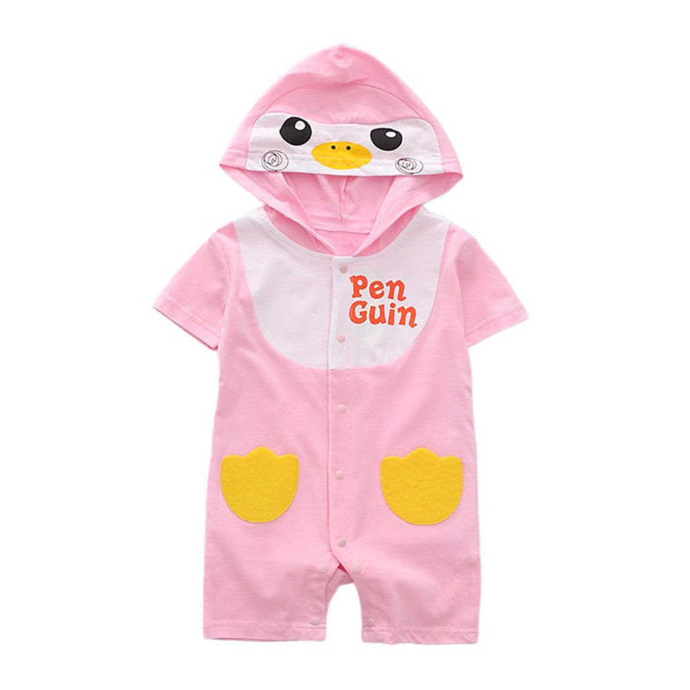 Lurryly Toddle Baby Romper Girls and Boys Animal Jumpsuit Outfits Summer Clothes 1-2 T