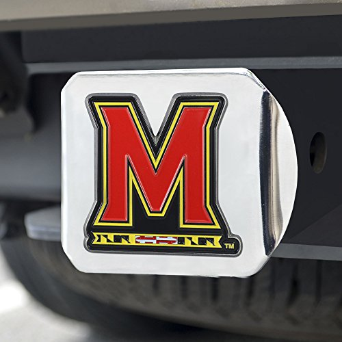 (FANMATS NCAA Maryland Terrapins University of Marylandcolor Hitch - Chrome, Team Color, One Size)