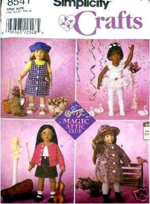 ll Clothes for 18-inch Magic Attic Club Doll - Patterns for 4 Outfits ()