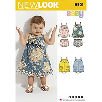 New Look Baby Kleid Schnittmuster 6501 & Strampler: Amazon.de: Küche ...
